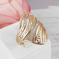 Кольцо Xuping Jewelry размер 19 Дайна медицинское золото позолота 18К А/В 5422