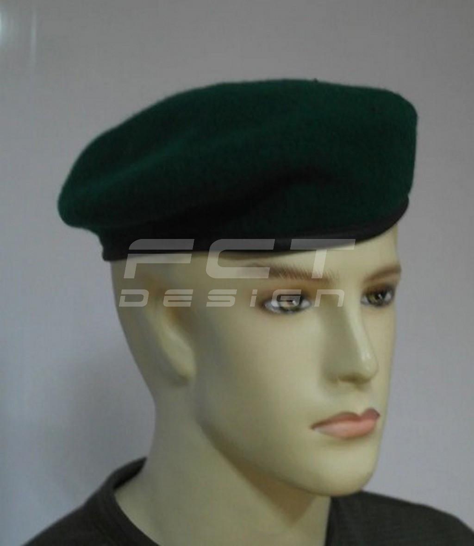 Берет ЗСУ зеленый капелька фетровый цельнотянутый