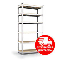 Стеллаж металлический  2400х1200х400мм 6полок полочный для дома, склада, магазина, фото 1