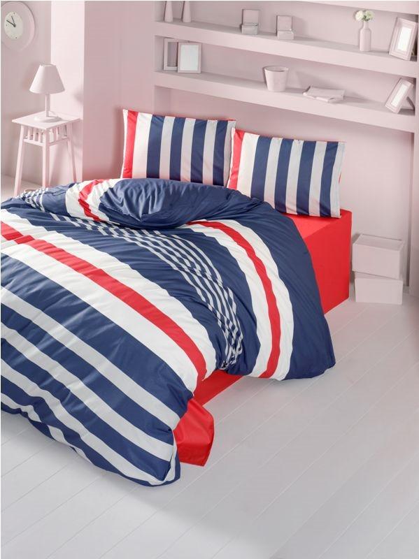 Комплект постельного белья полуторный Ranforce Stripe 160x220 (34823_1,5)