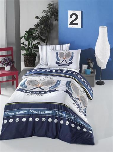 Комплект постельного белья полуторный Ranforce Tennis 160x220 (50484_1,5)