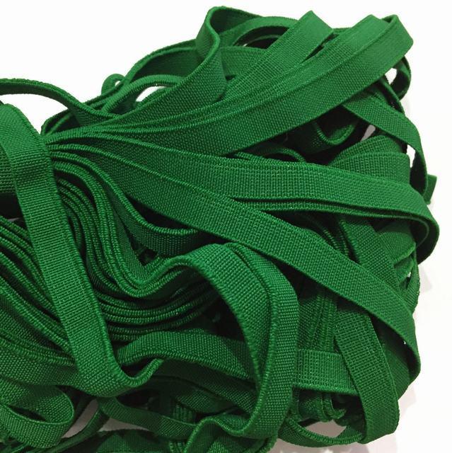 Резинка тканая 010мм цв зеленый (уп 25м) 3098 Укр-з