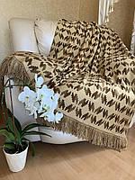 Вязанный плед, покрывало на кровать, плед для пикника, Плед 200х220 см. Розница, ОПТ, ДРОП. от производителя