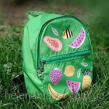 Зеленый детский рюкзак унисекс Фрукты