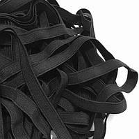 Резинка тканая мягкая 010мм цв черный (уп 25м) 2457 Укр-б