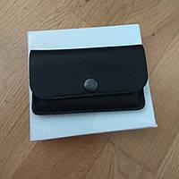 Визитница Мужская Маленькая или кошелек для карточек Кожа Чорный