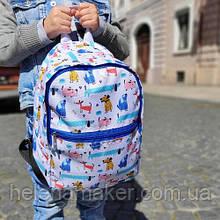 Детский тканевый рюкзак с собачками