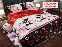 Полуторний комплект постільної білизни - Закохані кішечки