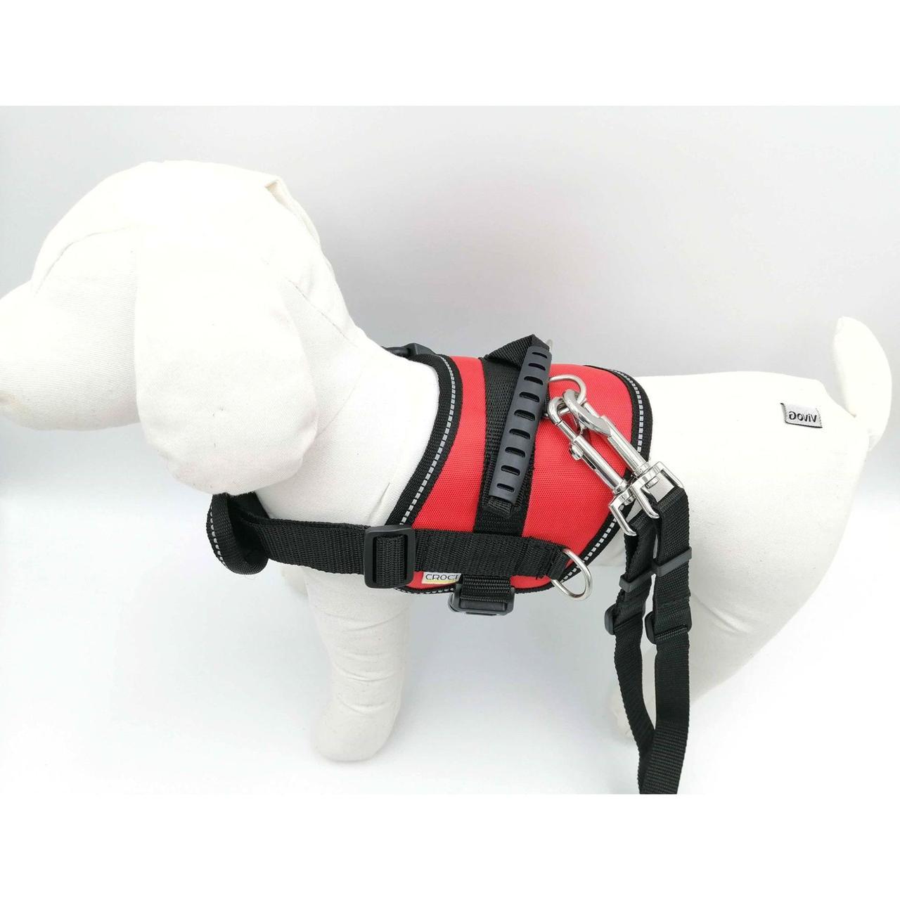 Шлея для собак з кишенею і ручкою з повідцем 33-45 см Croci Hiking червона,  ціна 654 грн., купити в Білій Церкві — Prom.ua (ID#1175249839)
