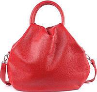 Женская сумка Wampum из натуральной кожи Красная (SK_31_red flotar), фото 1
