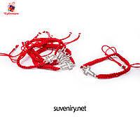 Браслет-оберег красная нить с крестиком, фото 1