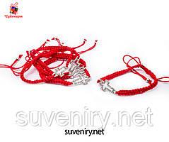 Браслет-оберіг червона нитка з хрестиком