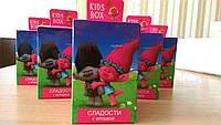 Тролли KIDS BOX - коллекционная фигурка в коробочке c драже в шоколаде Кидсбокс, фото 1