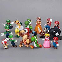 Фигурки героев игры Супер Марио 18 шт, фото 1