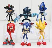 Игровой набор Super Sonic второе поколение супер соник 6 шт