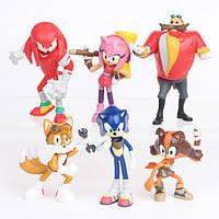Игровой набор Super Sonic третье поколение Супер Соник 6 фигурок, фото 1