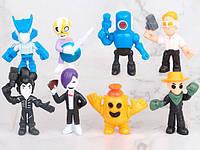 Коллекционные игрушки -фигурки Бравл Старс (8 шт): Ворон Меха, Робоспайк, Поко, Кольт и другие, фото 1