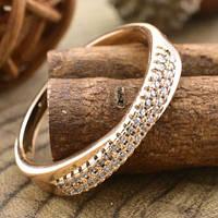 Кольцо Xuping Jewelry размер 19 Энни медицинское золото позолота 18К А/В 5428