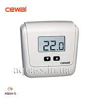 Термостат комнатный Cewal ET 05 цифровой настенный на батарейках (Италия)