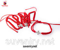Браслет червона нитка з хрестиком