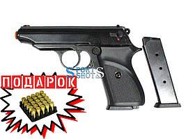 Стартовый пистолет SUR 2608 black с доп. магазином
