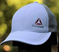 Мужская кепка бейсболка Reebok белого цвета с сеткой. Фото в живую. Реплика