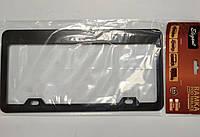 Рамка під номерний знак США Elegant EL 100 606 чорна нержавійка