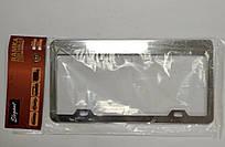 Рамка під номерний знак США Elegant EL 100 605 срібляста нержавійка