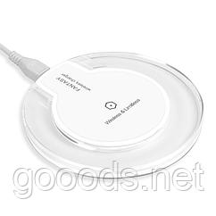 Бездротова зарядка для телефонів з підтримкою стандарту Qi Білий +