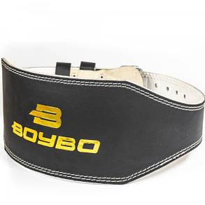 BoyBo Пояс тяжелоатлетический BoyBo кожа черный 15см Пояс т/а BoyBo кожа черный M 15 см, фото 2