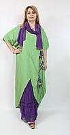 Легкое летнее платье свободного кроя Cadrelli Турция рр 52-58