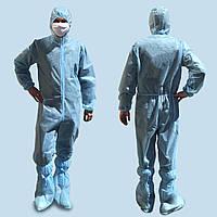 Комбинезон защитный сертифицированный (одноразовый), спанбонд ламинированный 45г / м2