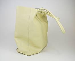 Сумка большая бежевая Bag Leather 0483, фото 3