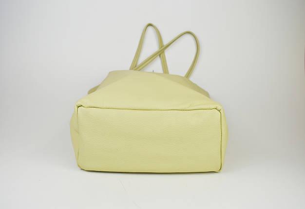 Сумка большая бежевая Bag Leather 0483, фото 2