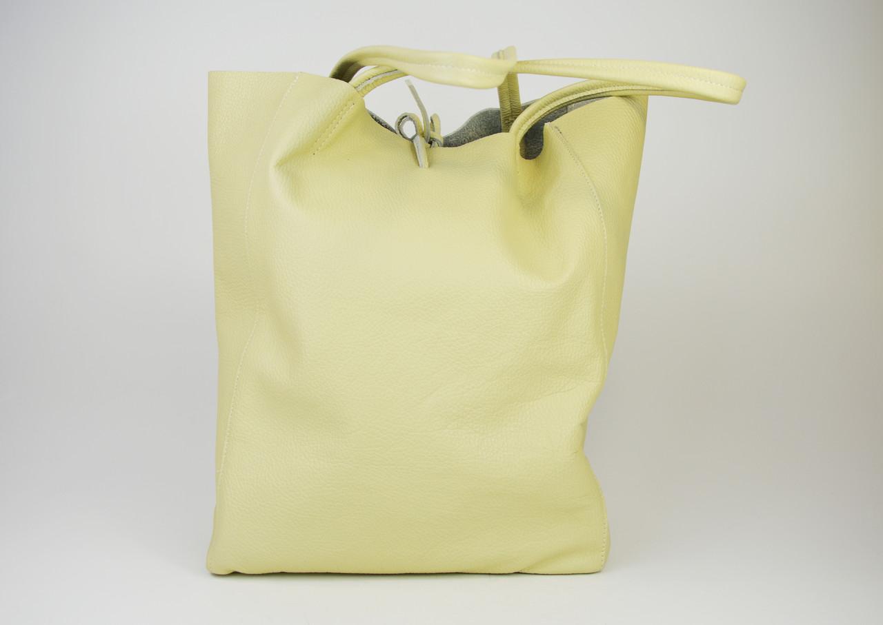 Сумка большая бежевая Bag Leather 0483