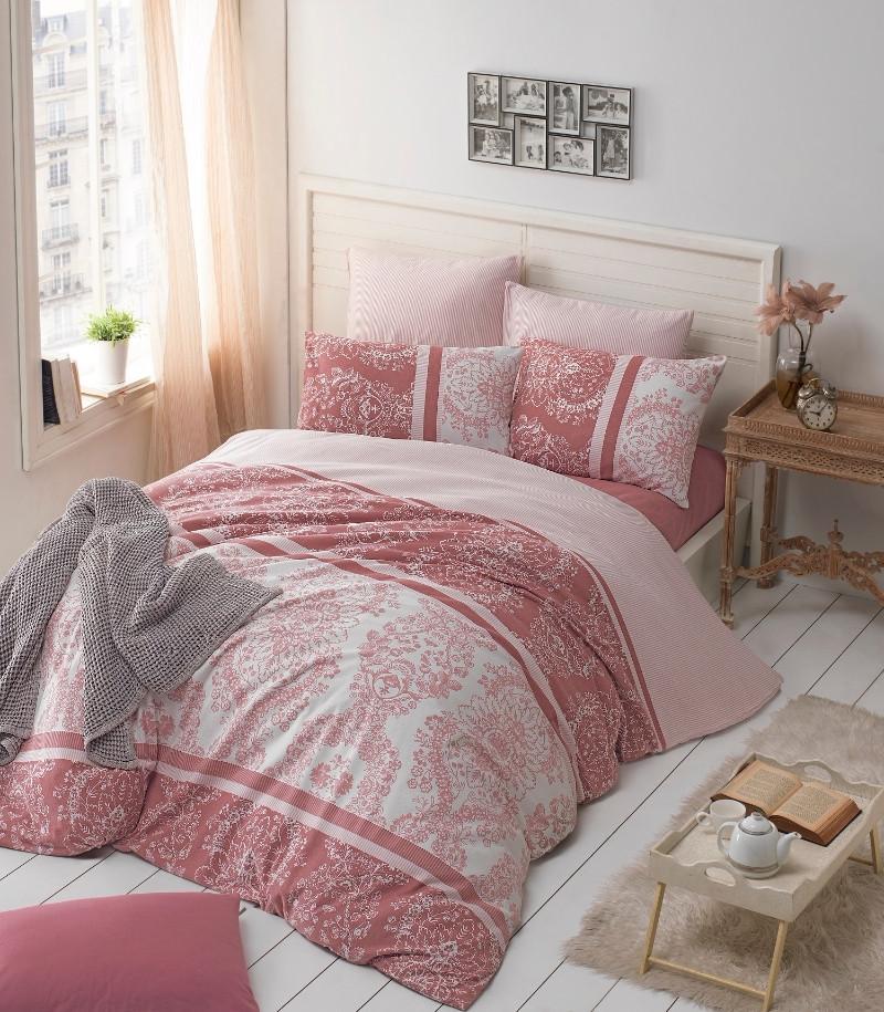 Двуспальный комплект постельного белья Ranforce Pudra  200x220 (3638_2.0LH)