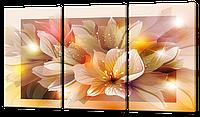 Модульная картина Цветущий цветок 124*70 см Код: W324L