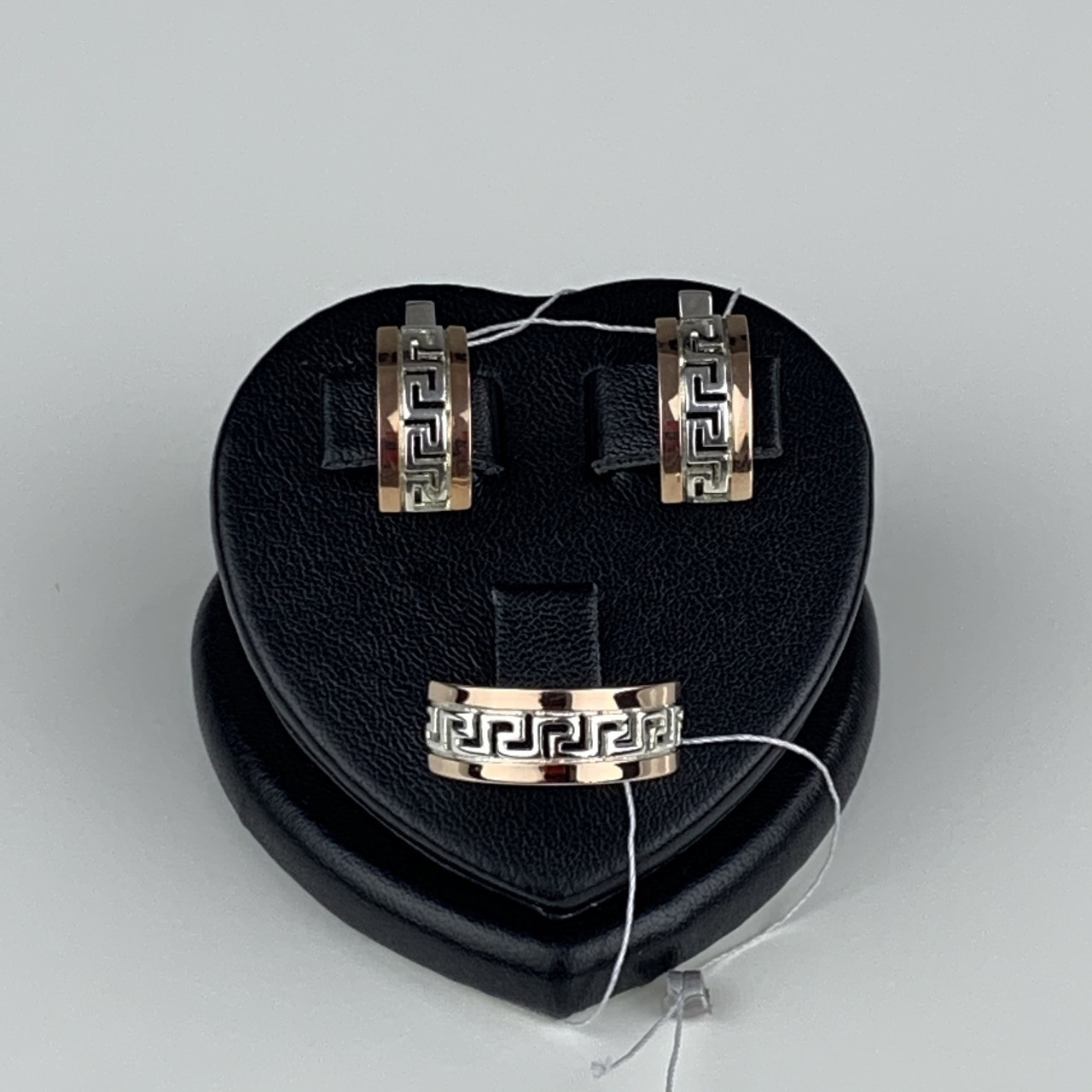 """Шикарное женское Серебряное кольцо с золотыми вставками (пластинами) """"Дорос"""""""