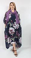 Легкое летнее платье свободного кроя Cadrelli Турция рр 56-64