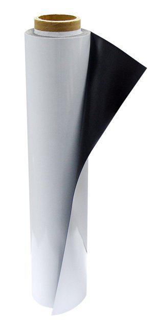 Полимерное железо с белым ПВХ покрытием для прямой УФ печати (0.25мм х 1270мм х 30м)