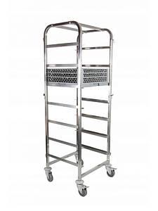Тележка для перевозки корзин посудомоечной машины 7 x 500x500 мм Hendi 810583