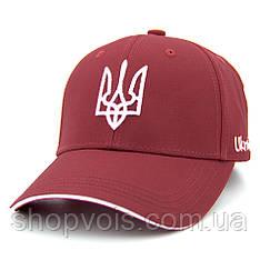 Кепка Герб України M503 Бейсболка Красная