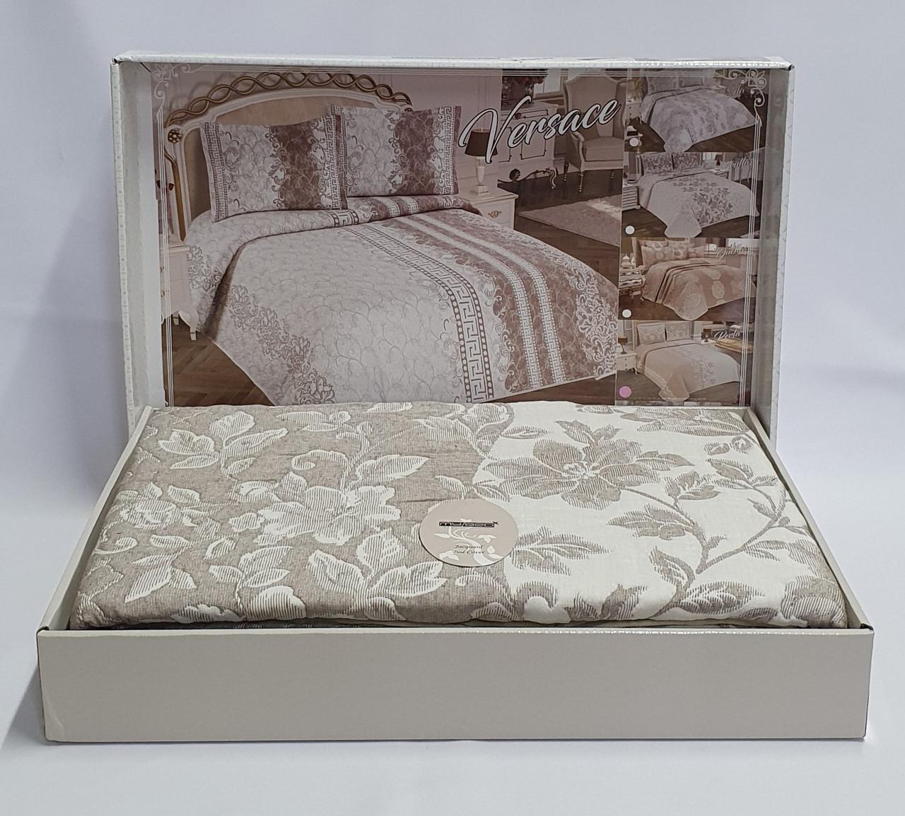 Покривало My Bed Жакард 170x240 з наволочкою Perlla Kahve