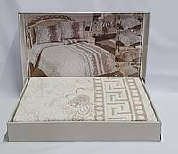Покрывало My Bed Жакард 170x240 с наволочкой Versace Pudra