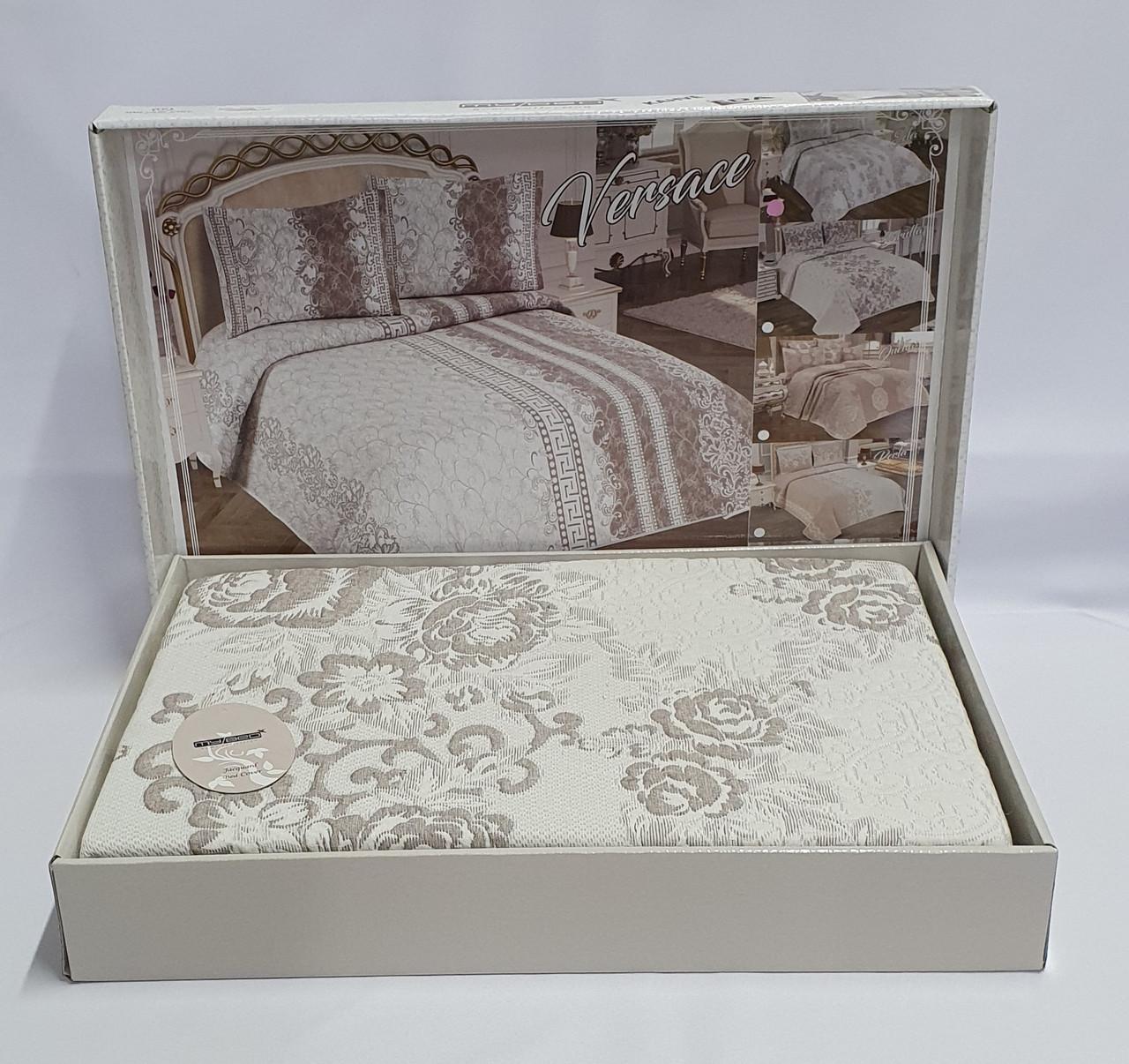 Покрывало My Bed Жакард 170x240 с наволочкой Eda Kahve