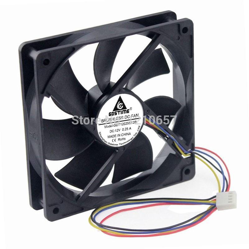 Gdstime 4Pin 2500 об/хв фірмовий гідравлічний вентилятор охолодження для комп'ютерного корпусу 120х25х120мм