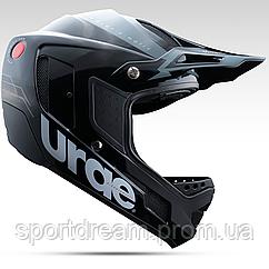 Шлем Urge Down-O-Matic черно-серебристо белый L  (59-60см)