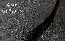Подошвенный каучук 120*50 см, толщ. 4 мм, черный