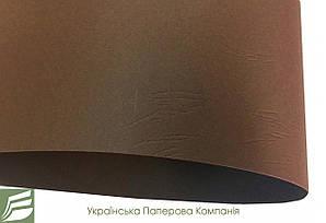 Дизайнерський картон Tourbe з тисненням шкіра, коричневий, 300 гр/м2