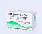 Иглы инсулиновые Микрофайн 4мм, BD Micro-fine Plus 32G-100шт., фото 2